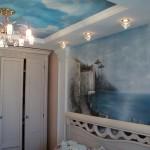 спальня (фрагмент интерьера). художественная роспись