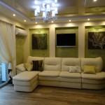 гостиная, реализованный интерьер